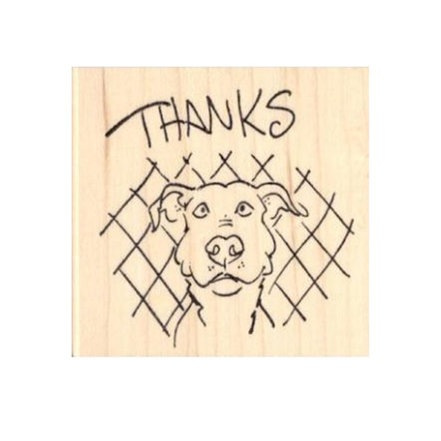 Pit Bull Thanks Rubber Stamp