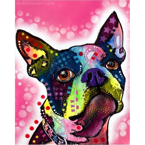 Boston Terrier Print by Dean Russo - Discontinued