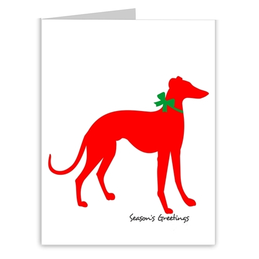 Greyhound Season\'s Greetings Note Cards