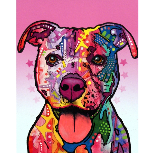 Cherish the Pit Bull Dean Russo Print - Discontinued
