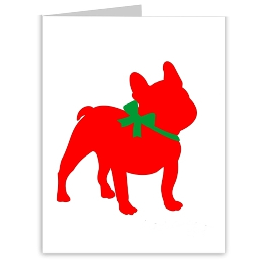 French Bulldog Season\'s Greetings Note Cards