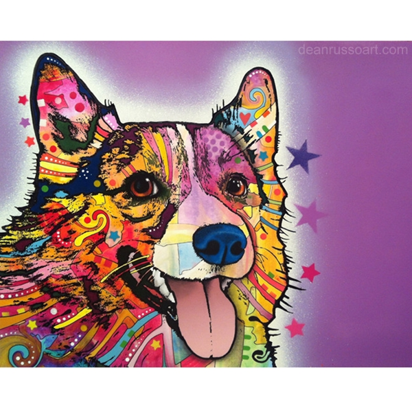 Corgi Print by Dean Russo - ONLY 1 LEFT