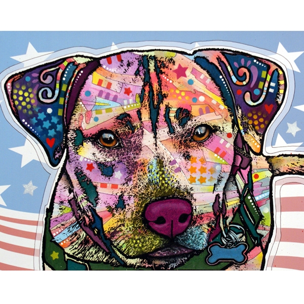 Dakota the Service Dog Pit Bull Dean Russo Print - Discontinued