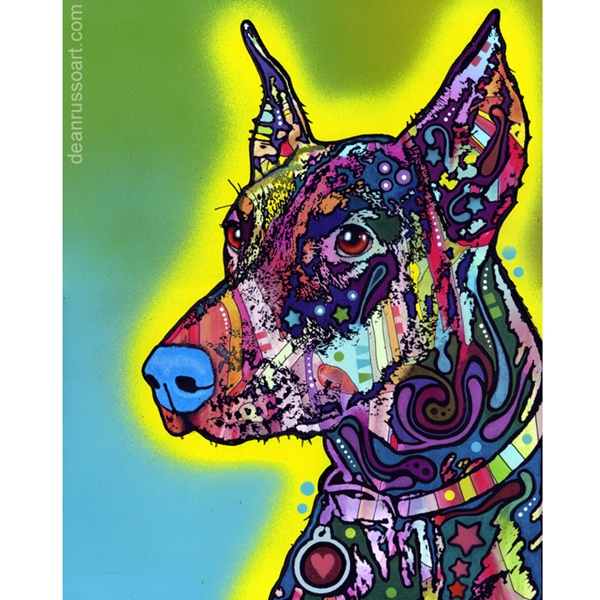 Doberman Print by Dean Russo - Discontinued