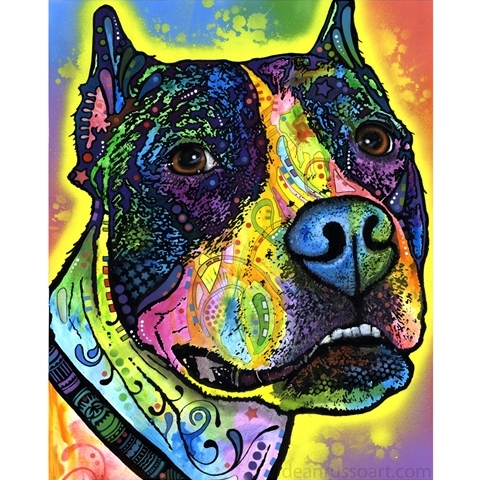 Justice Pit Bull Print by Dean Russo - Discontinued