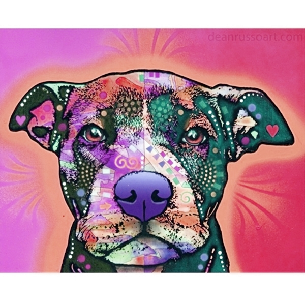 Lovabull Pit Bull Print by Dean Russo - Discontinued