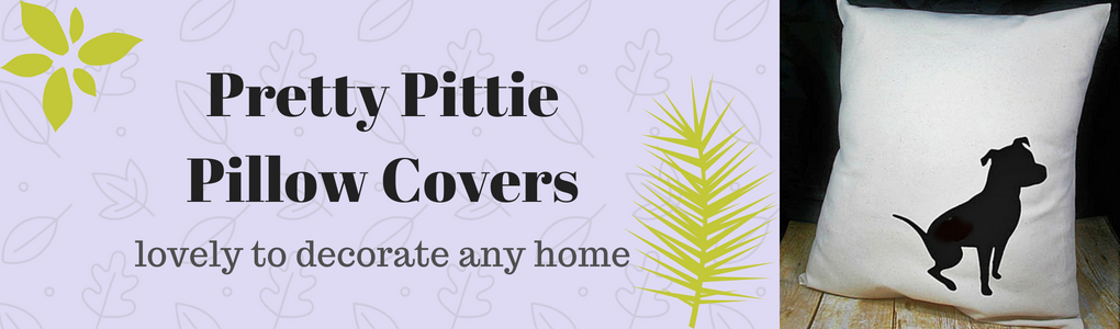 Pretty Pittie Pillow Cover