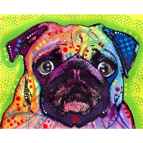 Pug Print by Dean Russo - Discontinued