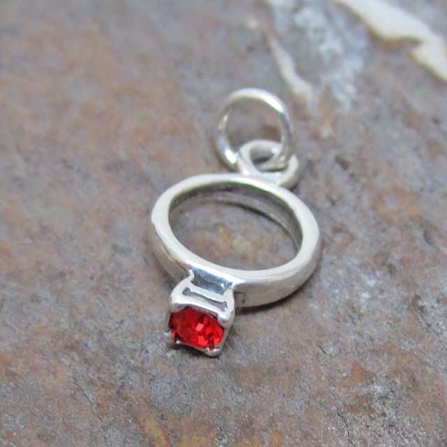 pit bull engagement ring large sterling silver necklace