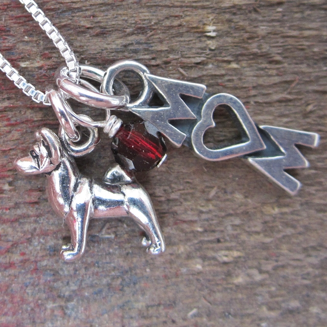 Akita Mom Mini Sterling Silver Necklace