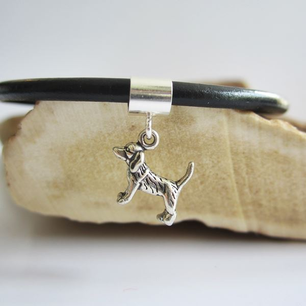 Beagle Mini Sterling Silver European-Style Charm and Bracelet