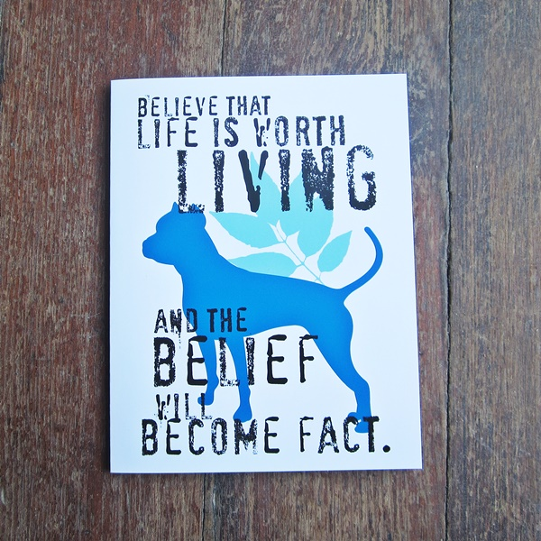 Pit Bull Believe Note Cards