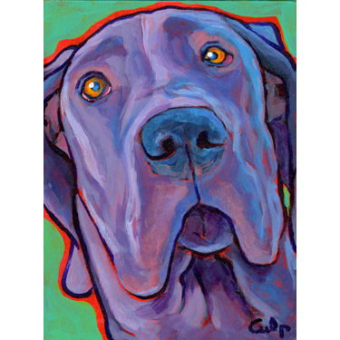 Black Great Dane Print