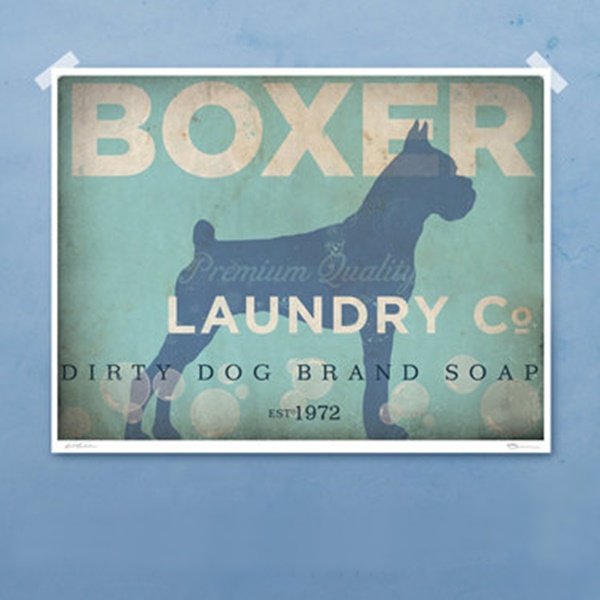 Boxer Laundry Company Silhouette 8x10, 11x14 Giclee Print