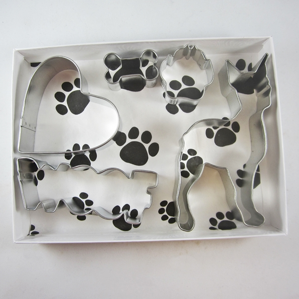 Boxer Woof Five Piece Cookie Cutter Set + a Letter!