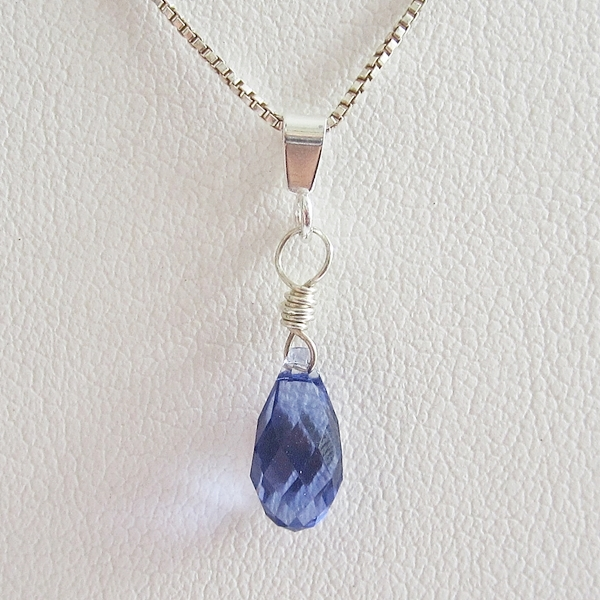 lapis product pendant necklace closeup briolette