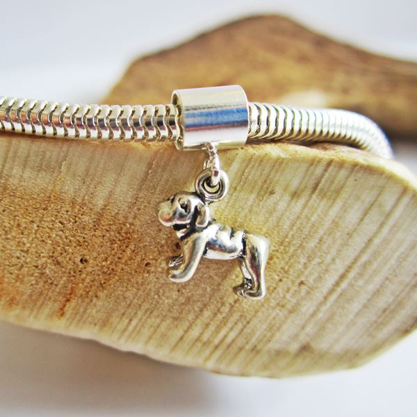 Bulldog Mini Ster Silver European-Style Charm and Bracelet
