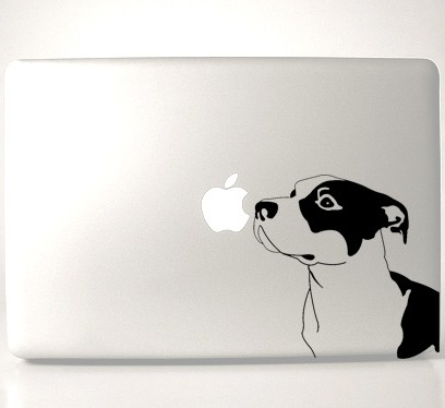 Pit Bull Laptop Decal