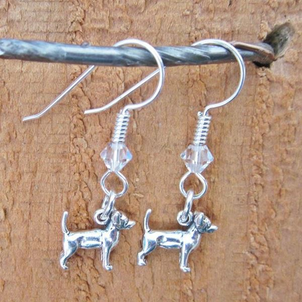 Chihuahua Sterling Silver Earrings