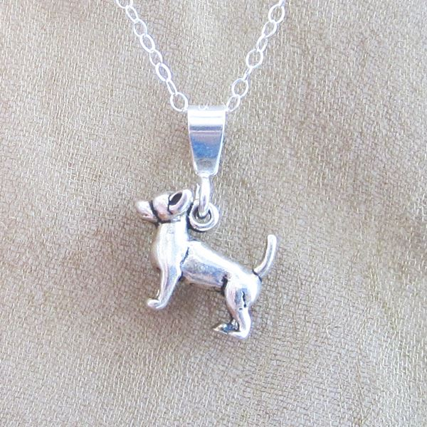 Chihuahua Mini Pendant Charm and Necklace