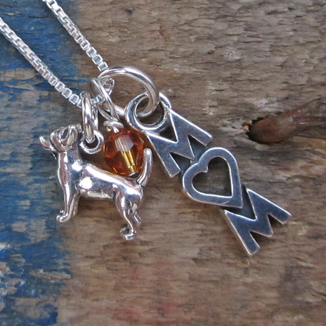 Chihuahua Mom Mini Sterling Silver Necklace