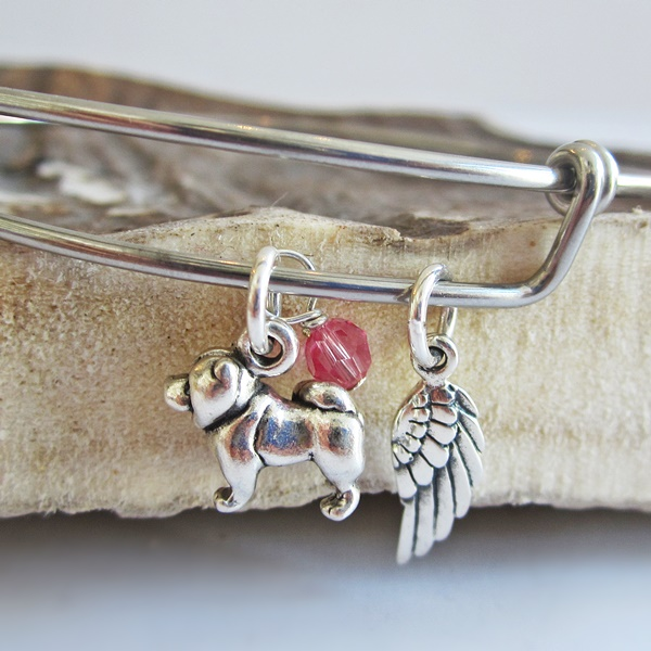 Chow Mini Angel Wing Stackable Bangle Bracelet