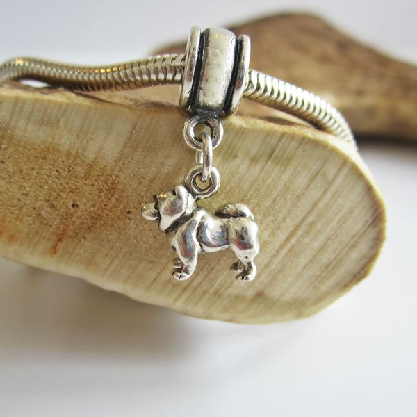 Chow Mini Sterling Silver European-Style Charm and Bracelet