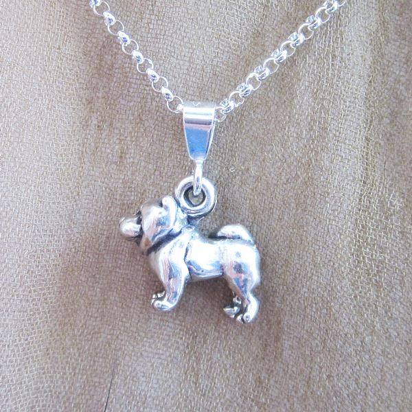 Chow Mini Pendant Charm and Necklace