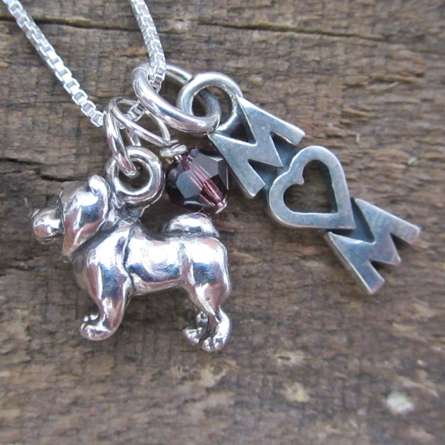 Chow Mom Mini Sterling Silver Necklace