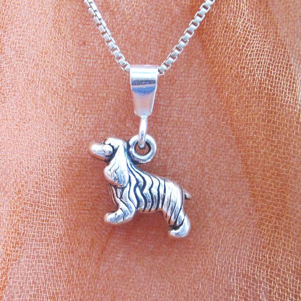 Cocker Spaniel Mini Pendant Charm and Necklace