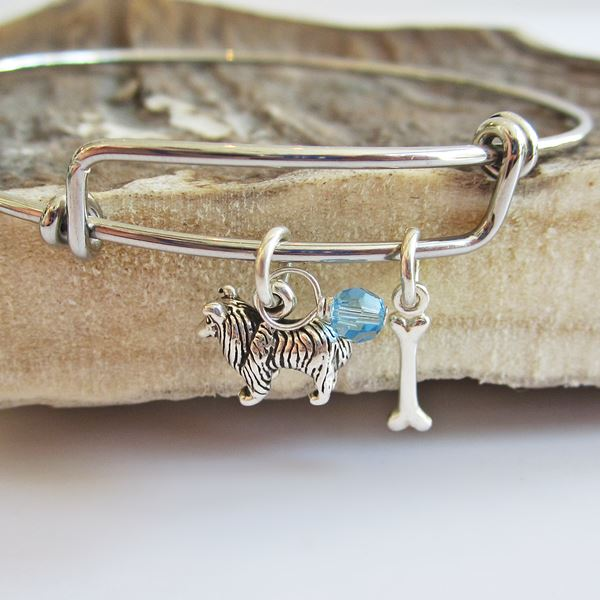 Collie Mini Bone Stackable Bangle Bracelet