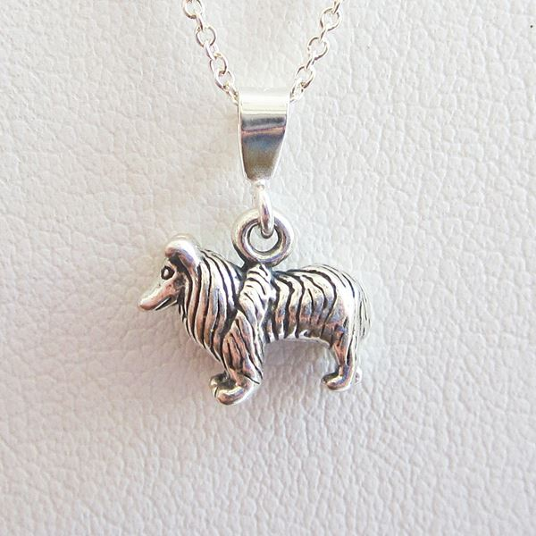 Collie Mini Pendant Charm and Necklace