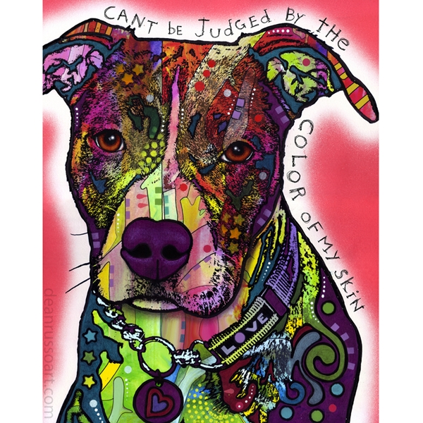 The Color of My Skin Pit Bull Print