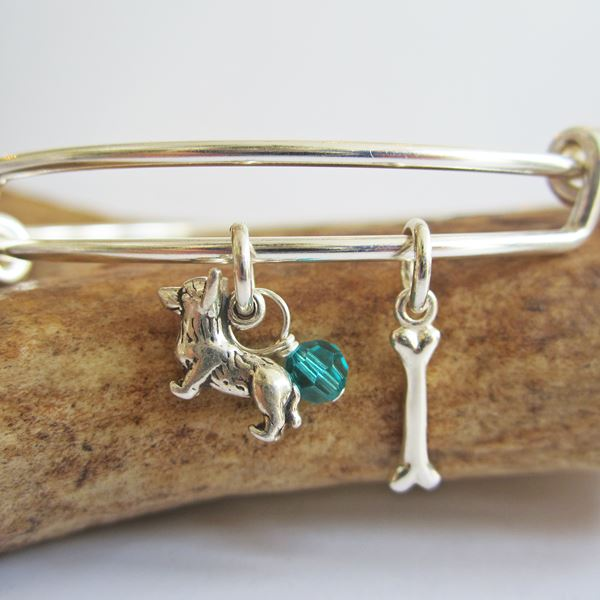 Corgi Mini Bone Stackable Bangle Bracelet