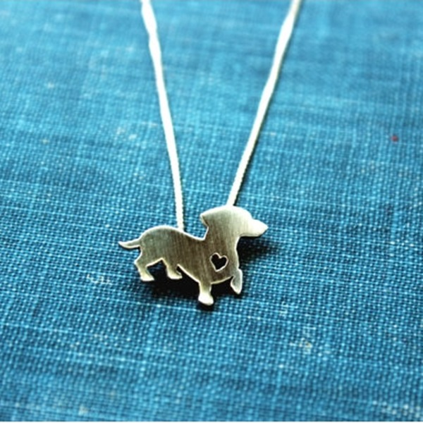 Dachshund Itty Bitty Sterling Silver Necklace