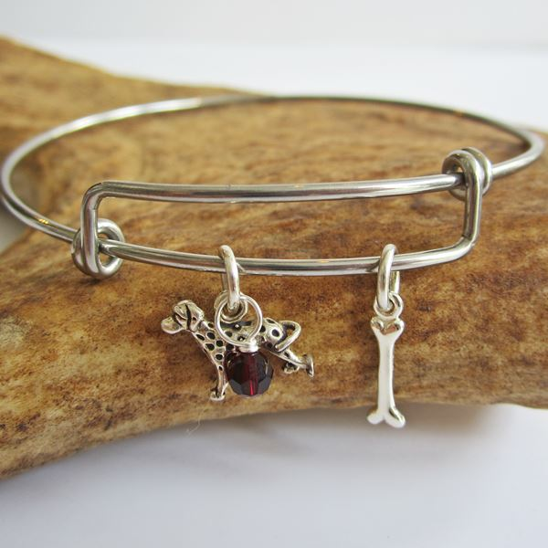 Dalmatian Mini Bone Stackable Bangle Bracelet