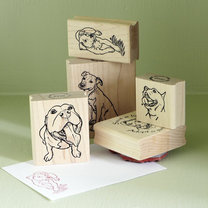Set of Three Rubber Stamps