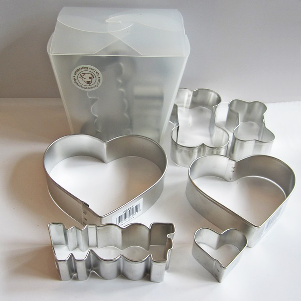 Dog Bone Woof Heart Six Piece Cookie Cutter Set
