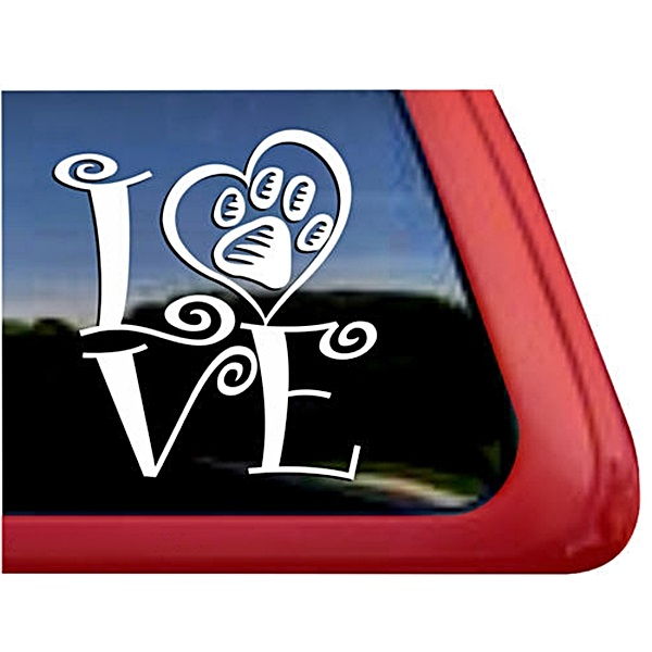 Dog Love Large Decal