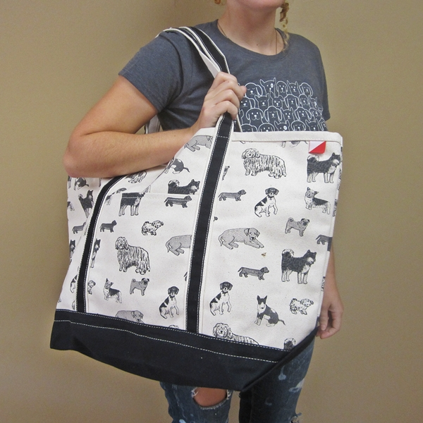 Dog Print Boat Black Weekender Bag