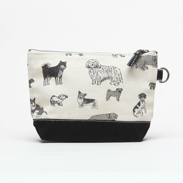 Dog Print Black All In Pouch