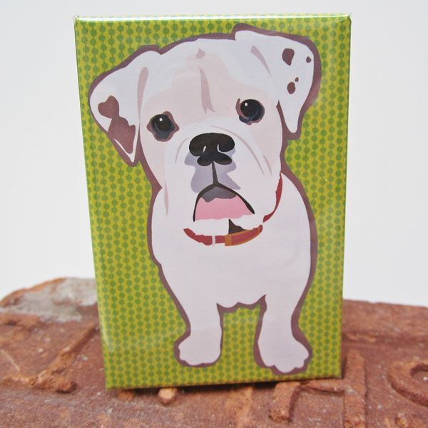 English Bulldog Art Magnet