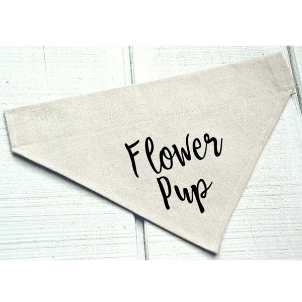 Flower Pup Canvas Dog Bandana
