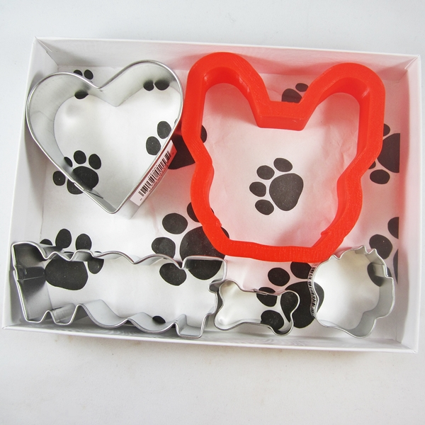 French Bulldog Woof Five Piece Cookie Cutter Set + a Letter!