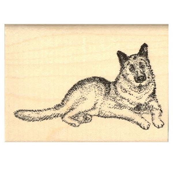 German Shepherd Rubber Stamp