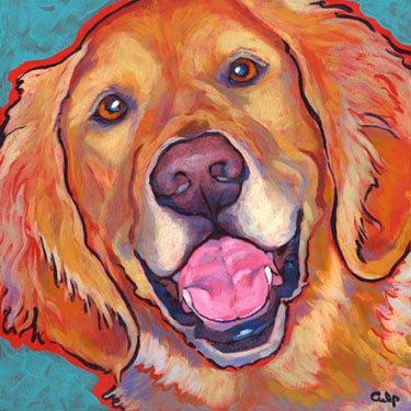 Golden Retriever Happy Print