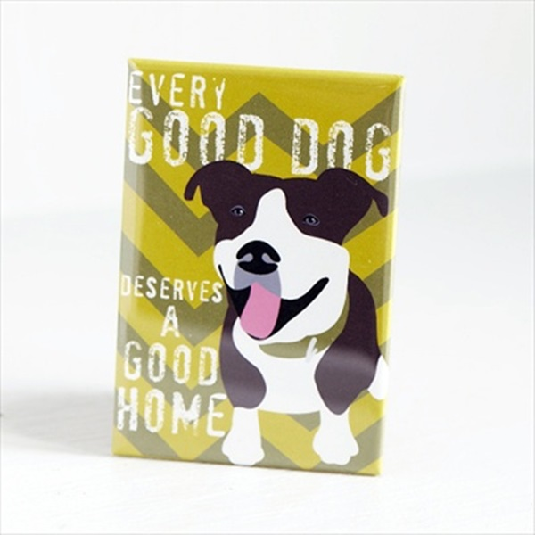 Pit Bull Good Dog Art Magnet
