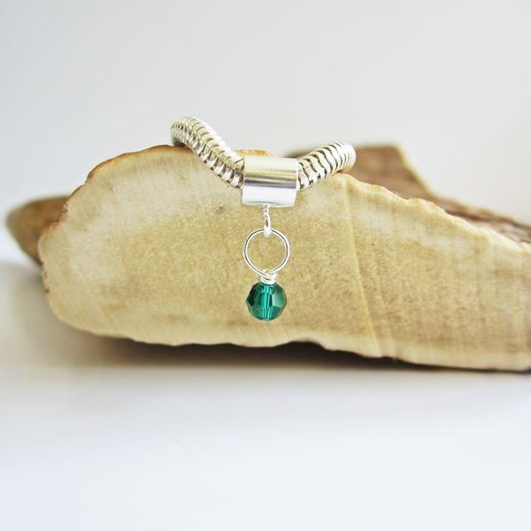 Green Birthstone Swarovski Crystal Charm and Bracelet