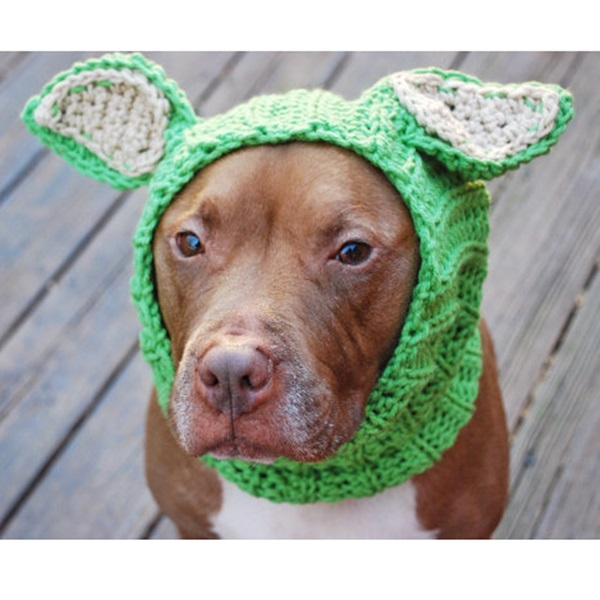 Green Lamb Crochet Snood
