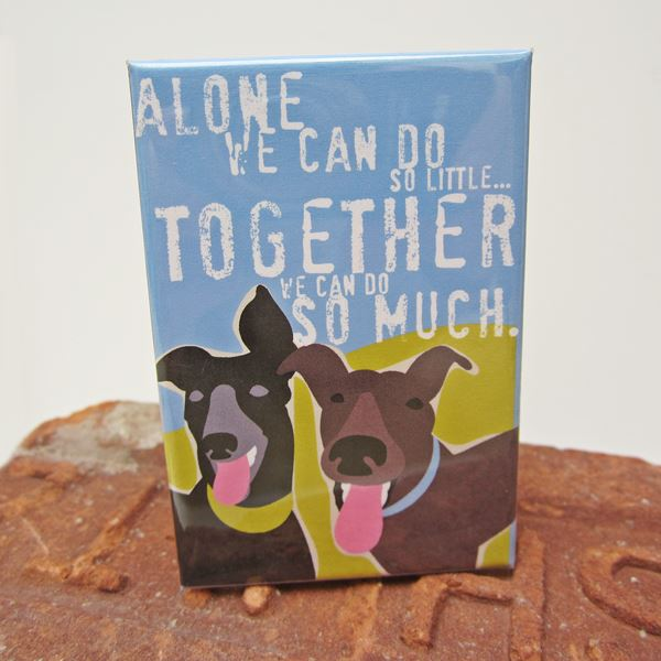 Greyhound Together Art Magnet